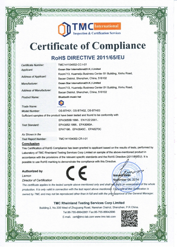 Sample certificate manufacturing image collections certificate rtte1 062354g please view our latest certificate showing our compliance to all current manufacturing standards for yelopaper Choice Image